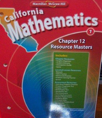Chapter 12 Resource Masters Grade 1 (California Mathematics, Math Connects) PDF