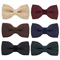 Bow Tie House Men's Pre-Tied Bow Tie in 100% Burlap Hessian, Unisex and children