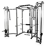 Valor Fitness BD-33BCCL Power Rack w/LAT Pull and Cable Crossover Attachment