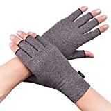Banillue Compression Arthritis Gloves, Fingerless Hand Gloves for Rheumatoid & Osteoarthritis - Joint Pain and Carpel Tunnel Relief-Men & Women -Small