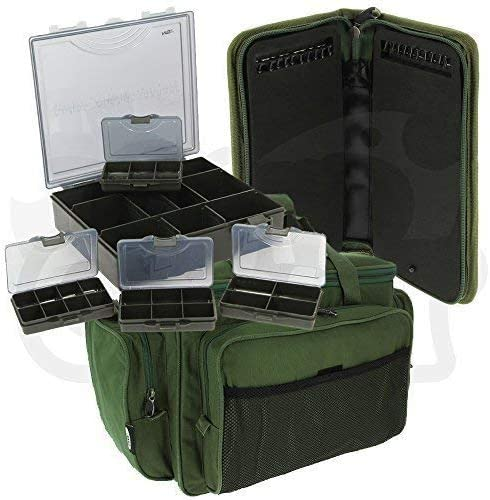 Glug Tasche Stiff Rig Wallet /& Pins NGT Koffer Ger/ät Set mit 4 St Leine Tasche Karpfen Grobfischen