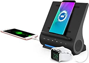 15Watts Super Fast Qi Wireless Charging Sound Hub Bluetooth Speaker Upgraded Mic handsfree for iPhone 12/12 Mini /12 Pro and Samsung S20 Note 20