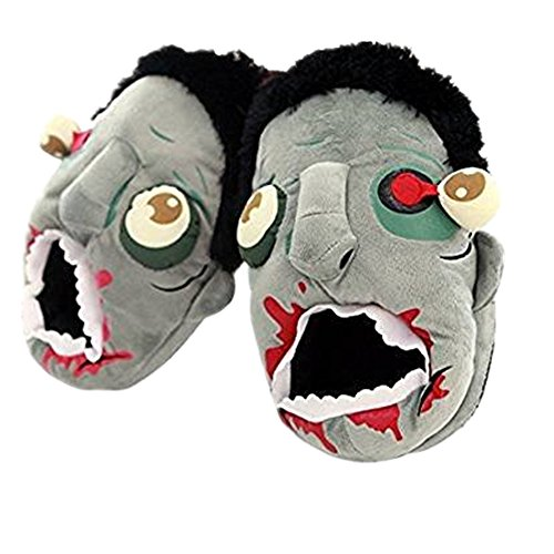 Halloween Footwear - Neilshop Unisex Cozy Zombie Slippers Halloween Costume Paw Claw Shoes 9-11' Yellow