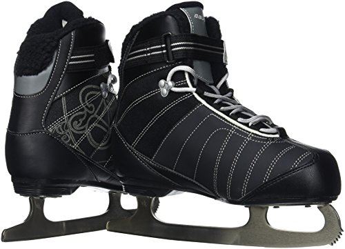 Bauer Women's React Recreational Ice Skates, Black, R 05.0 Black Womens Ice Skates