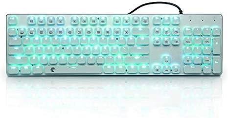 WUXXXTeclado mecánico Juego Teclado Teclado Interruptor azul ...