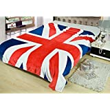 """King's Deal- Tm Bed Blanket:79""""x 59 """" Super Soft Warm Air Conditioning Throw Blanket for Bedroom Living Rooms Sofa,oversized Travel Throw Cover (Uk Flag1)"""