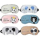 Kaimaily Set of 6 Cute Lightweight Sleep Masks Eye Mask New Cartoon Cotton