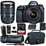 Canon EOS 6D Mark II Professional Digital Camera: 26 Megapixel Touchscreen Full Frame DSLR Bundle with Canon EF 24-105mm IS STM Lens BG-E21 Battery Grip 64GB SD Card SLR Bag & Battery With Charger