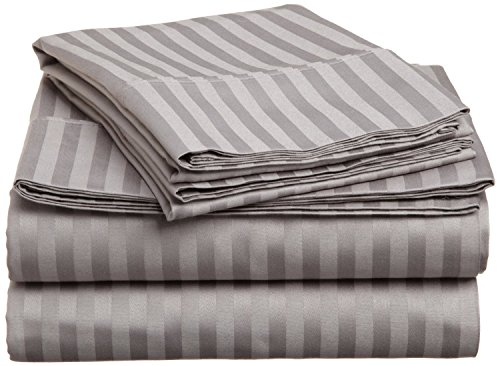 600 Thread Count Egyptian Cotton 4-Piece Sheet Set Cot Bed (30