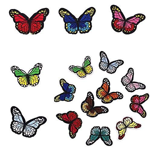 . Accesorios de La Insignia 6.7*4.7cm Wicemoon 10pcs Mariposa de Costura multicolor Hierro En El Parche Bordado Para La Ropa