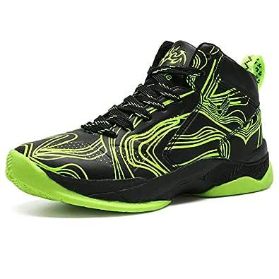 LANSEYAOJI Niños Zapatillas de Baloncesto High-Top Al Aire Libre Calzado Deportivo Moda Lace Up Sneaker Ligeros Zapatos para Correr Antideslizante ...