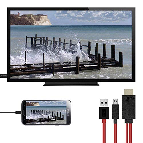 ETbotu Adaptateur de c/âble Micro USB vers HDMI 1080P HD TV for Android Samsung Phones 11PIN