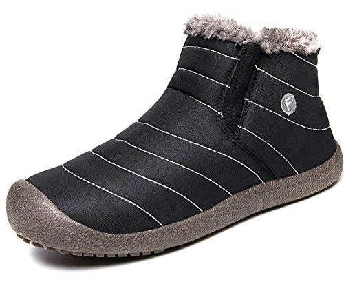 Eagsouni® Herren Damen Schneestiefel Stiefeletten Stiefel Warm Gefütterte  Kurz Winterstiefel Outdoor Slip on Knöchelhoch Winter 6f44f7712c