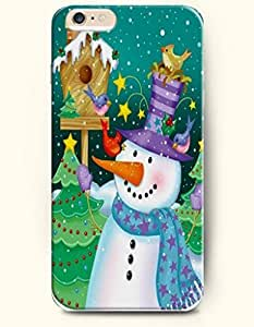 Case Cover For Apple Iphone 6 4.7 Inch Merry Chirstmas Mailbox Green Xmas Tree A Dancing SnoWith Purple Hat