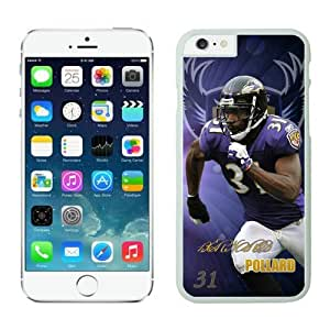 NFL Baltimore Ravens Bernard Pollard iPhone 6 Plus Case 01 White 5.5 Inches NFLIphone6PlusCases13538