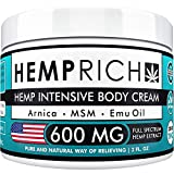 Hemp Cream for Pain Relief - 600 Mg - Contains Arnica, MSM