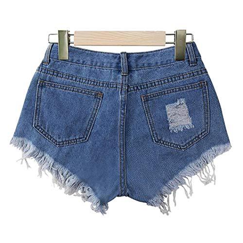 d't Jeans Hole Jupe Bleu Denim Court Femme Fathoit Jeans Femmes Mini Bouton Solide Blue Casual Jupe PR15Tq