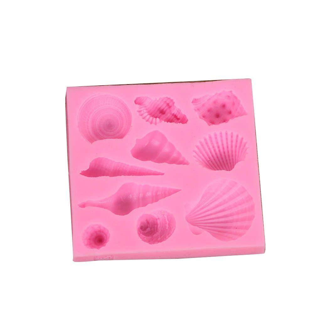 traline Motif Rose Conch Silicone g/âteau Moule Biscuit Moules P/âtisserie Biscuit Cuisson Outils de Cuisine Gadgets