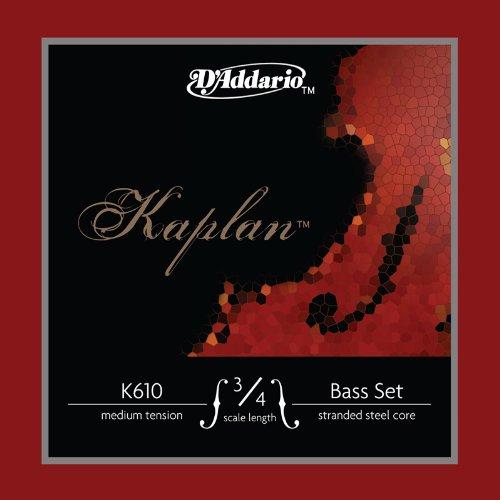 D'Addario Kaplan Bass String Set, 3/4 Scale, Medium Tension by D'Addario