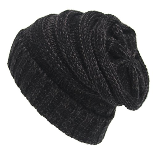 Max Costume Tutorial (YCHY Trendy Warm Chunky Soft Knit Hat Stretch Cable Slouchy Beanie Cap (black grey))