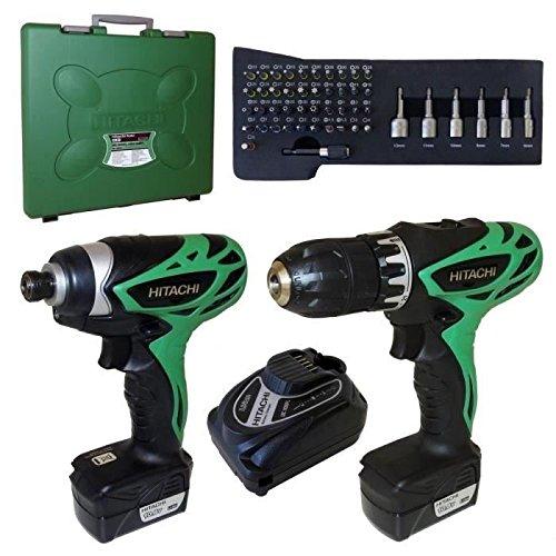 Hitachi Power Tools Pack 2Maschinen 2x 10,8V 1,5Ah Li-Ion mit 48Zubehör