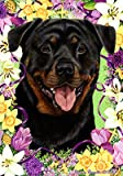 Rottweiler – Tamara Burnett Easter Flowers Large Flags For Sale