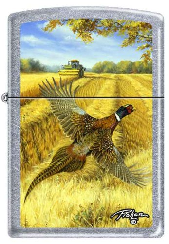 Zippo Linda Pickens Collection Pheasant with John Deere Combine Lighter