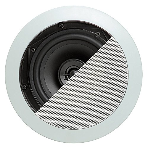 Cmple - 5.25'' Surround Sound 2-Way In-Wall/In-Ceiling Speakers (Pair) - Round by Cmple