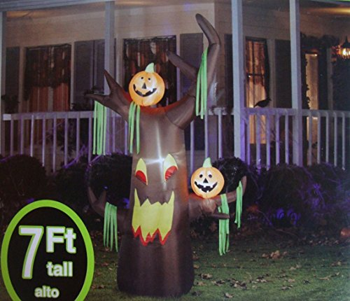 Airblown Inflatable 7 Foot Scary Tree Lights up with -