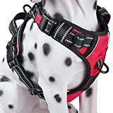 No Pull Dog Harness, Reflective Comfortable Vest Harness with Front & Back 2 Leash Attachments and Easy Control Handle for Small Medium Large Dog (Red, XS) Review