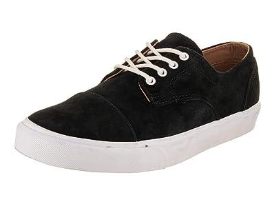 46725098bb Vans Unisex Dillon CA Pig Suede Black White Skate Shoe 8.5 Men US