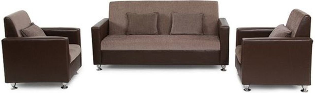 Brilliant Westido Five Seater Sofa Set 3 1 1 Natural Finish Brown Inzonedesignstudio Interior Chair Design Inzonedesignstudiocom