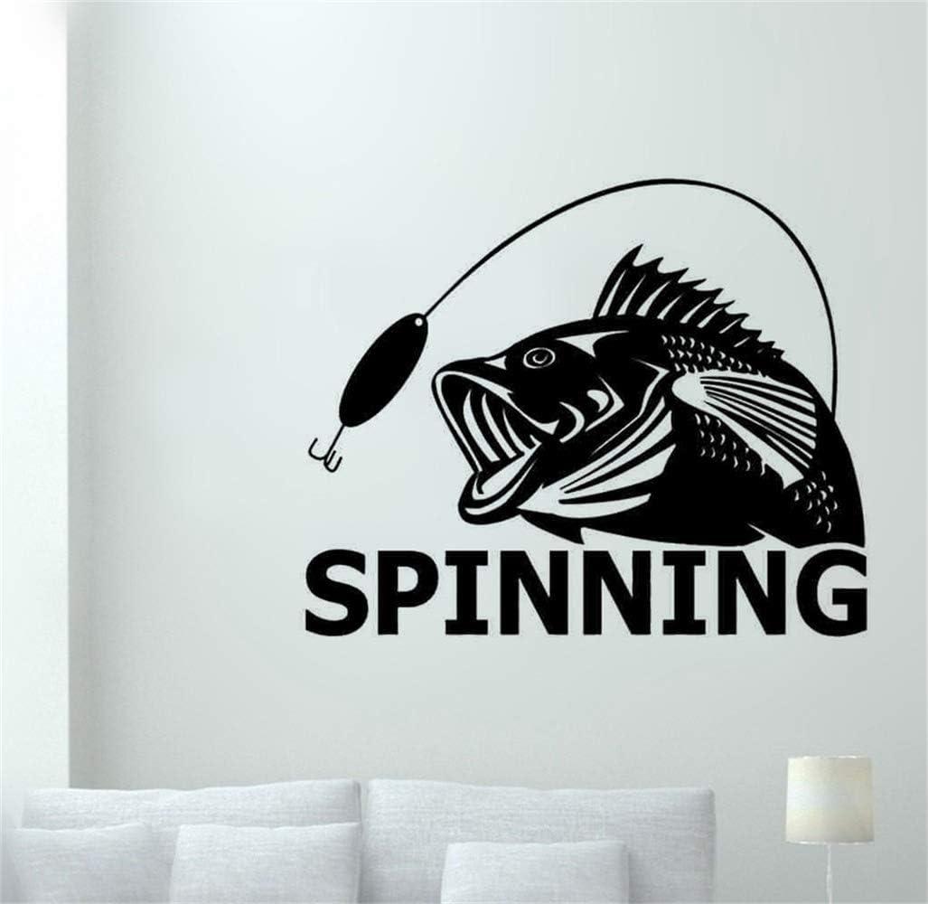 pegatinas decorativas pared Go Fishing Spinning Hunter Car Boat ...