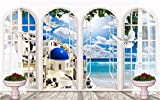 Sproud Custom 3D Photo Wall Mural Arch Of The Mediterranean Landscape Wallpaper For Walls 3 D Photo Mural Wallpaper For Living Room 300cmX210cm