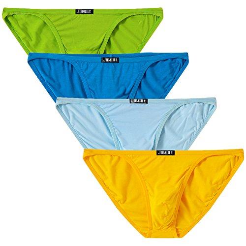 Mens Low Rise Bikini - JINSHI Mens Bikini Briefs Low Rise Tagless Bamboo Underwear XL(31