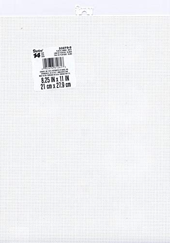 14 Mesh Count White Plastic Canvas 11 x 8.5 Inch 3 Sheets