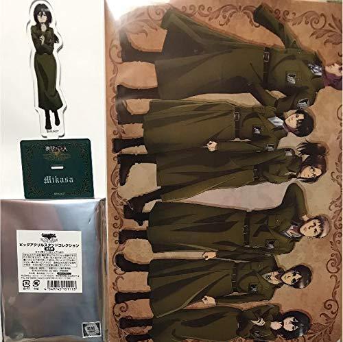 進撃の巨人 原画展 ミカサ アクリルスタンドとクリアファイルの商品画像
