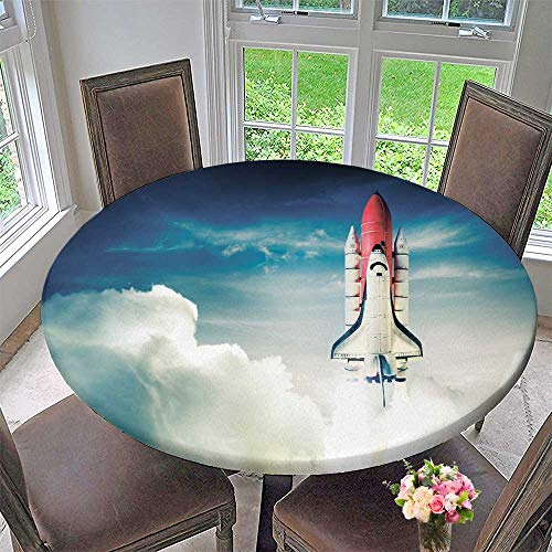 Chateau Easy-Care Cloth Tablecloth Space Shuttle tak Off on a Mission for Home, Party, Wedding 31.5