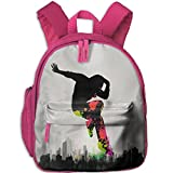 Teen Rucksack Students Book Dope Hiphop Backpak School Bookbag Daypack Girl Boys Pink
