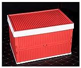 WPQW - car Storage Box Car Storage Box Car Multi-Function Folding Debris Storage Box Car with Plastic Folding Box Car Trunk Glove Box Yuethong Red - 8971 (Color : Red)