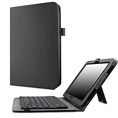 Verizon Ellipsis 10 Keyboard Case - Infiland Slim Premium PU Leather Stand Cover with Magnetically Detachable Wireless Bluetooth Keyboard for Verizon Ellipsis 10