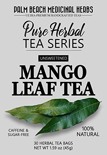 - Mango Leaf Tea - Pure Herbal Tea Series by Palm Beach Medicinal Herbs (30 Tea Bags) 100% Natural
