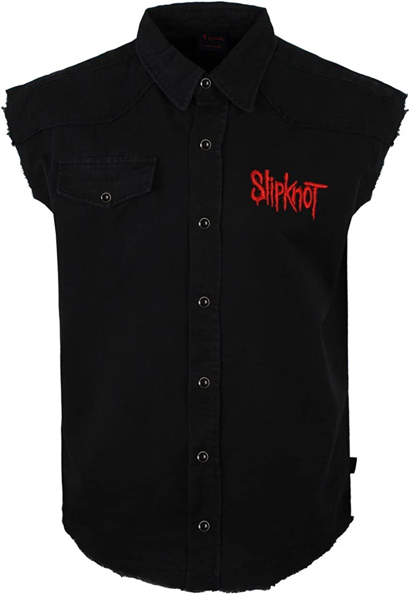 SLIPKNOT 9 POINTED STAR Camisa De Trabajo Sin Mangas / Work Shirt XL: Amazon.es: Música
