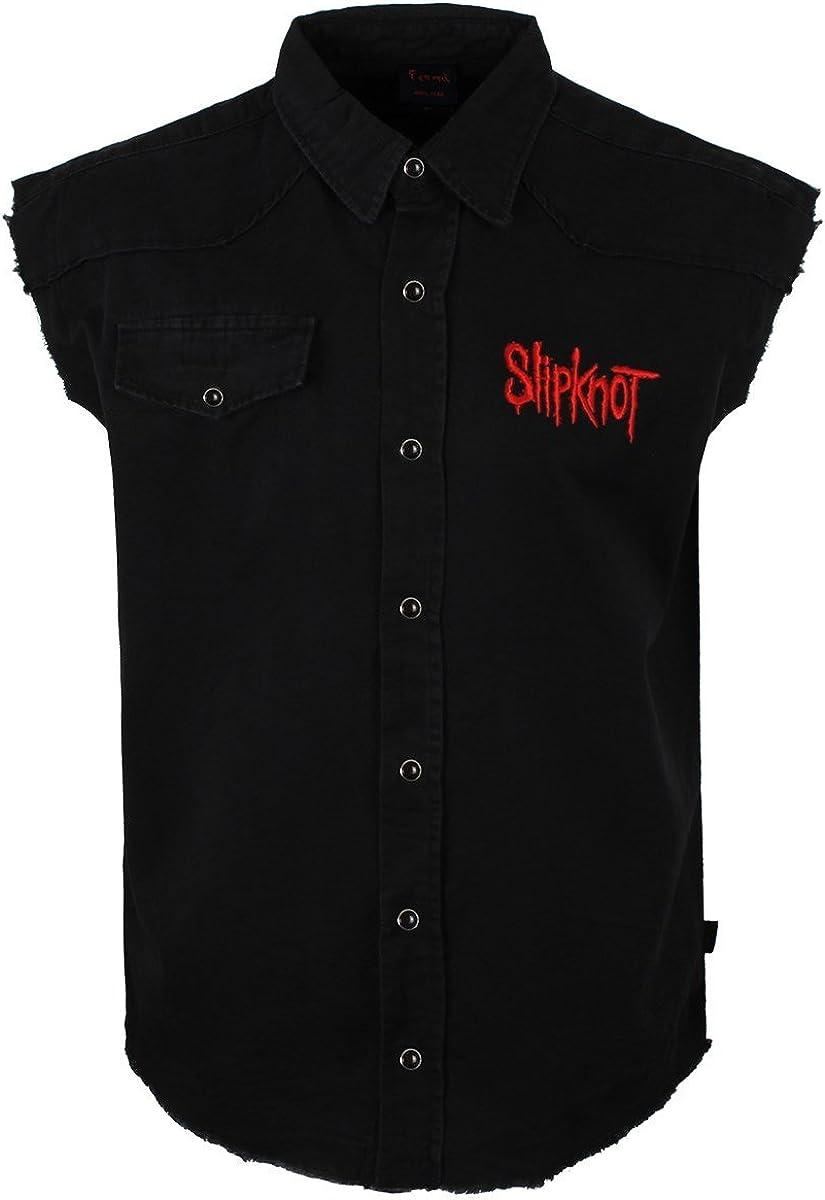 SLIPKNOT 9 POINTED STAR Camisa De Trabajo Sin Mangas / Work ...