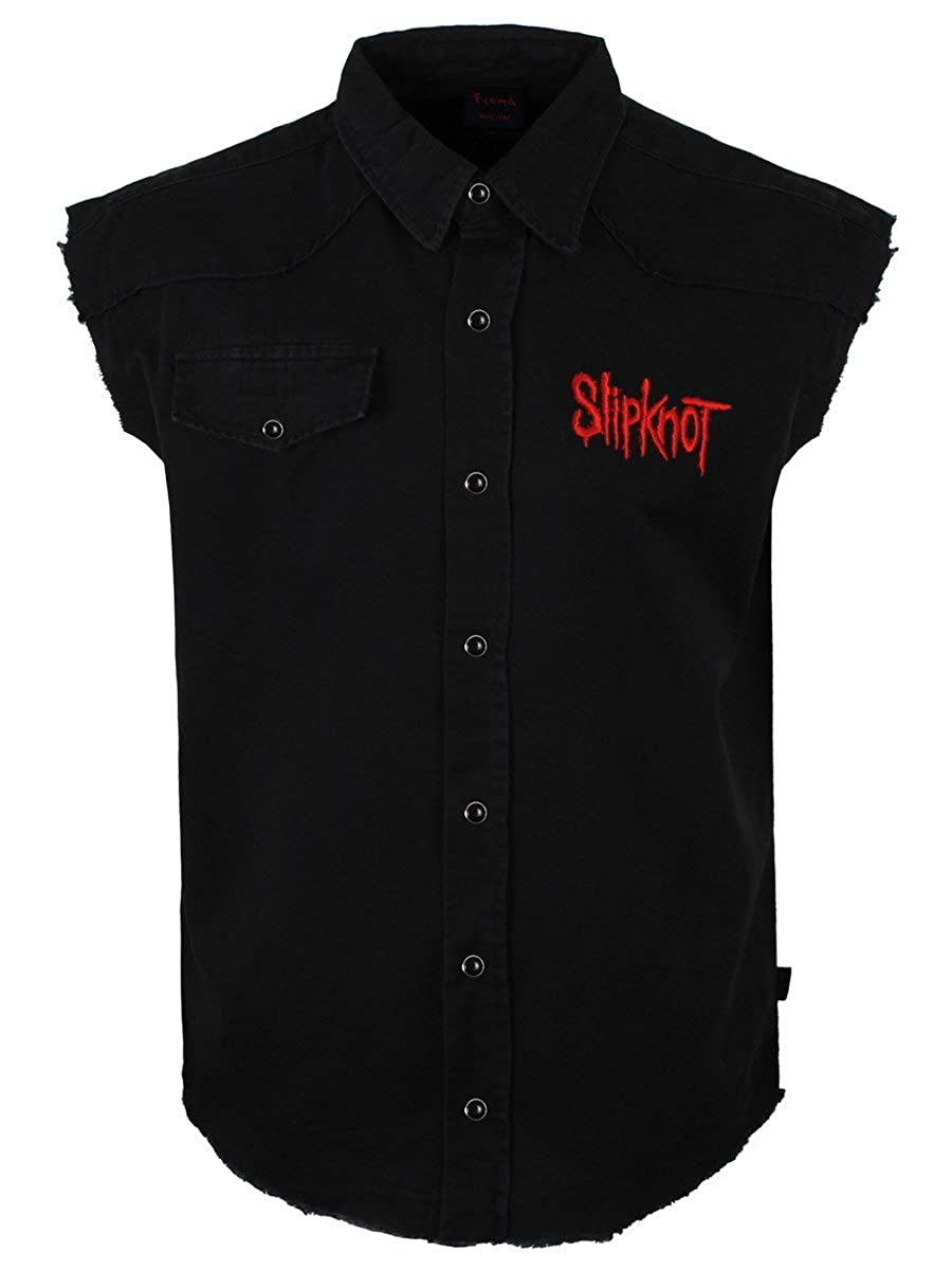 Slipknot 9 Pointed Star And Crest Men's Workshirt Black