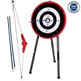 Cirocco Mini Dartboard Set Target for Kids – Portable Dart Game w/ 3 Soft Tips & Stand | Safe Kit for Children Adult Family Bar Sport Tournament Relax Office Hobby Fun Leisure Camping Party Game Room