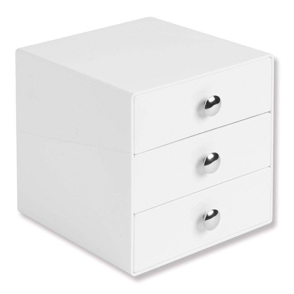 White Makeup Organizer Amazoncom Interdesign 3 Drawer Storage Organizer For Makeup