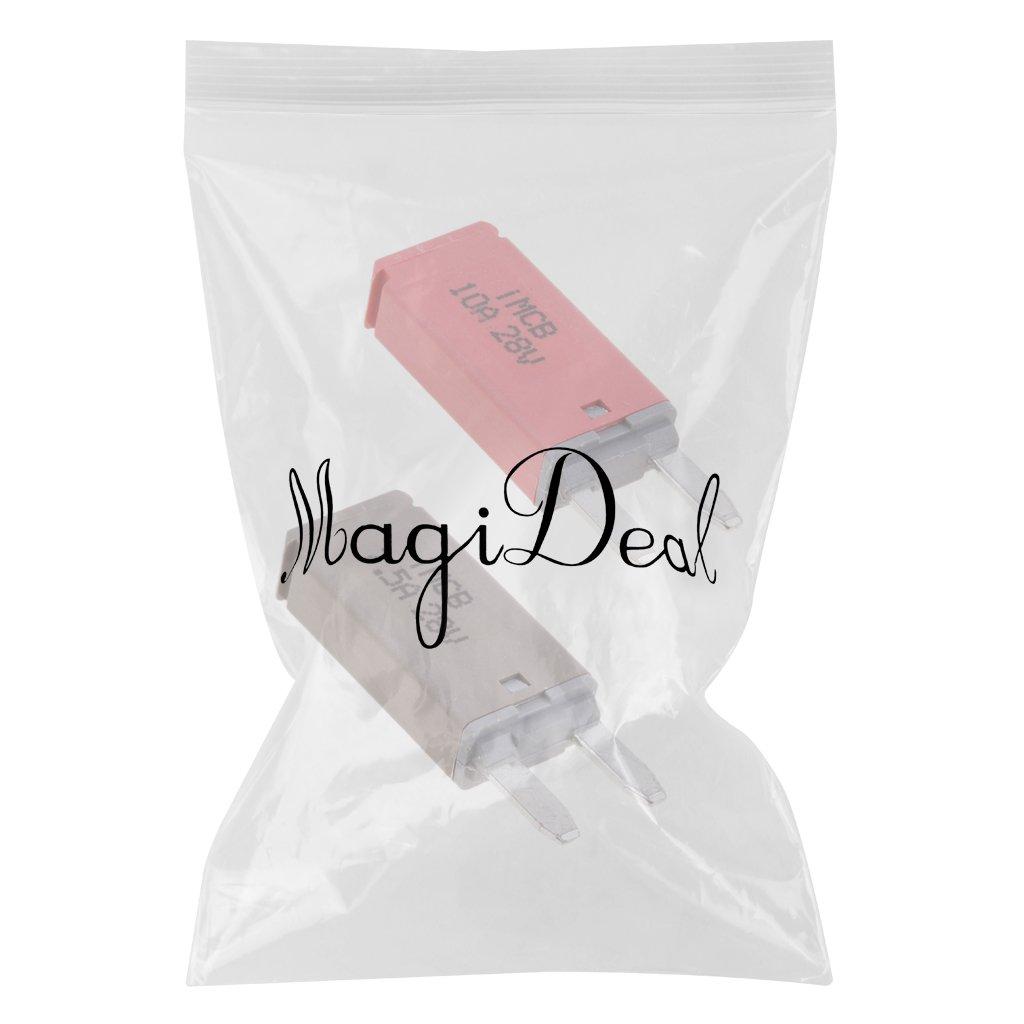 MagiDeal 2 Stk Autos KFZ ATM Mini Sicherung Blade Fuse Flachsicherung Stromunterbrecher 7.5A+10A