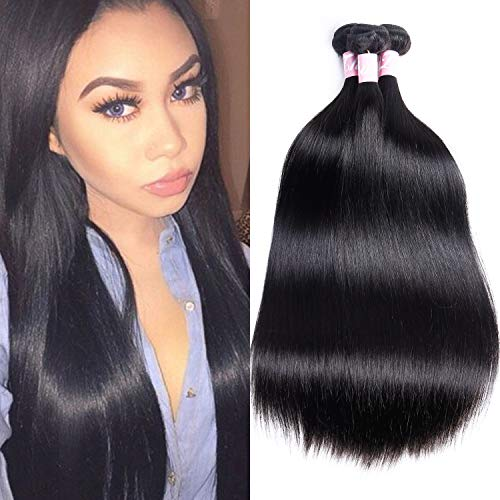 Digital Hair Extension - 3 Bundles Peruvian Straight Hair 12