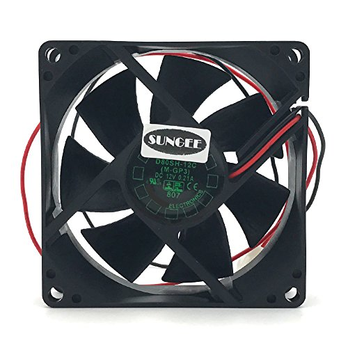 D80SH-12C 12V 0.21A 8020 8CM 2 wire power supply cabinet cooling fan by Sungee
